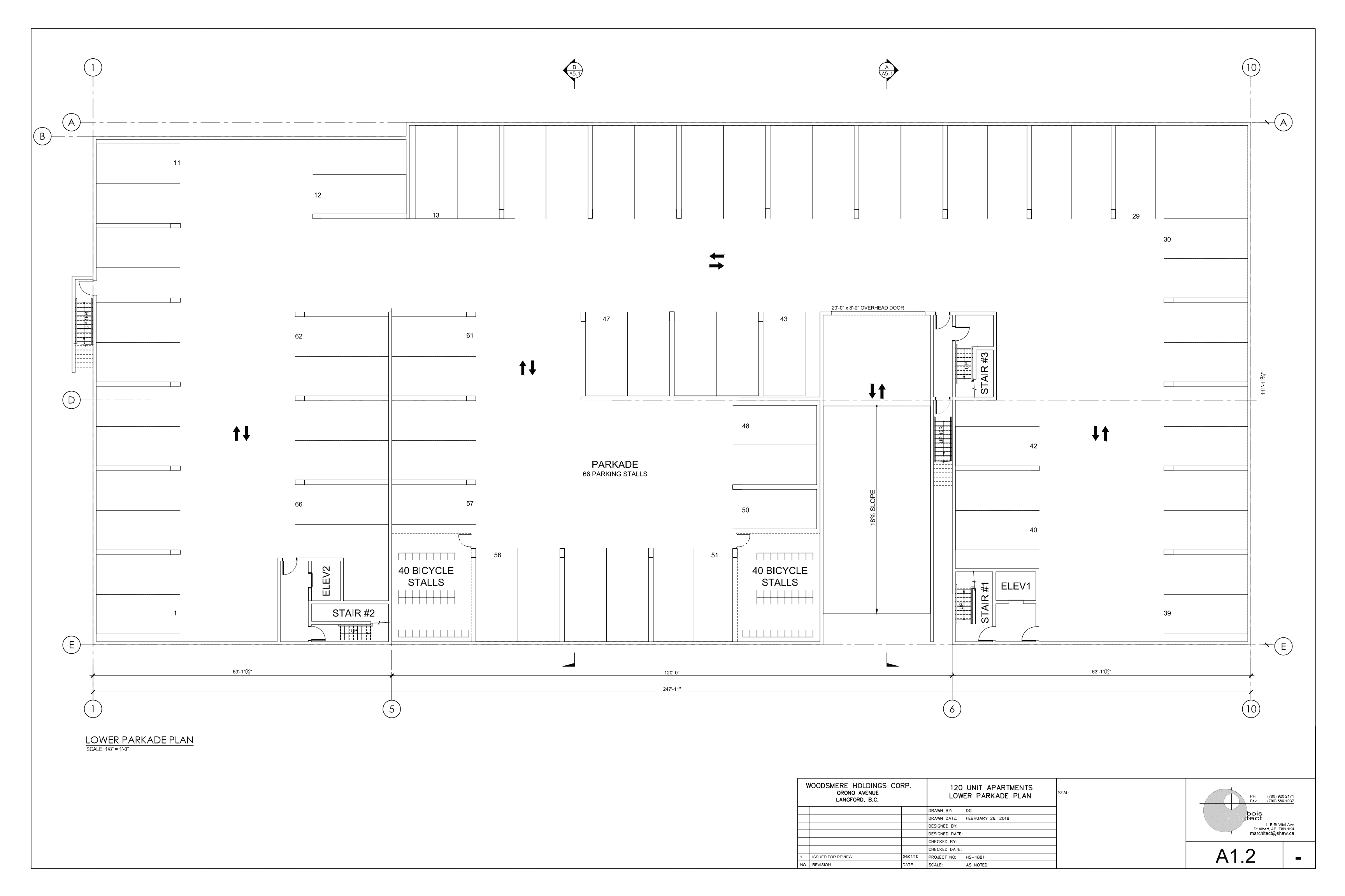 (17-81) HSI-ORONO- A1.2 LOWER PARKADE PLAN - APR4