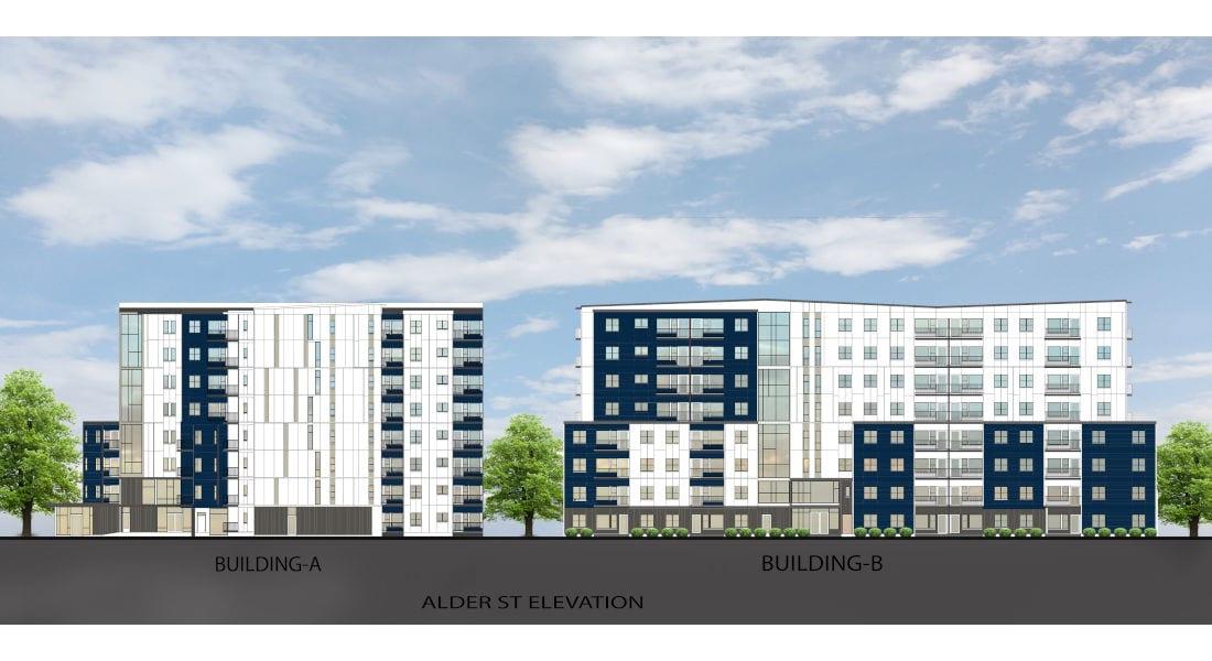 Rutledge Place Apartments - Alder Street Building Rendering