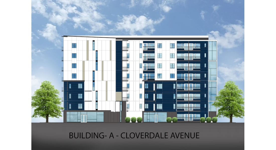 Rutledge Place Apartments - Cloverdale Ave. Building Rendering