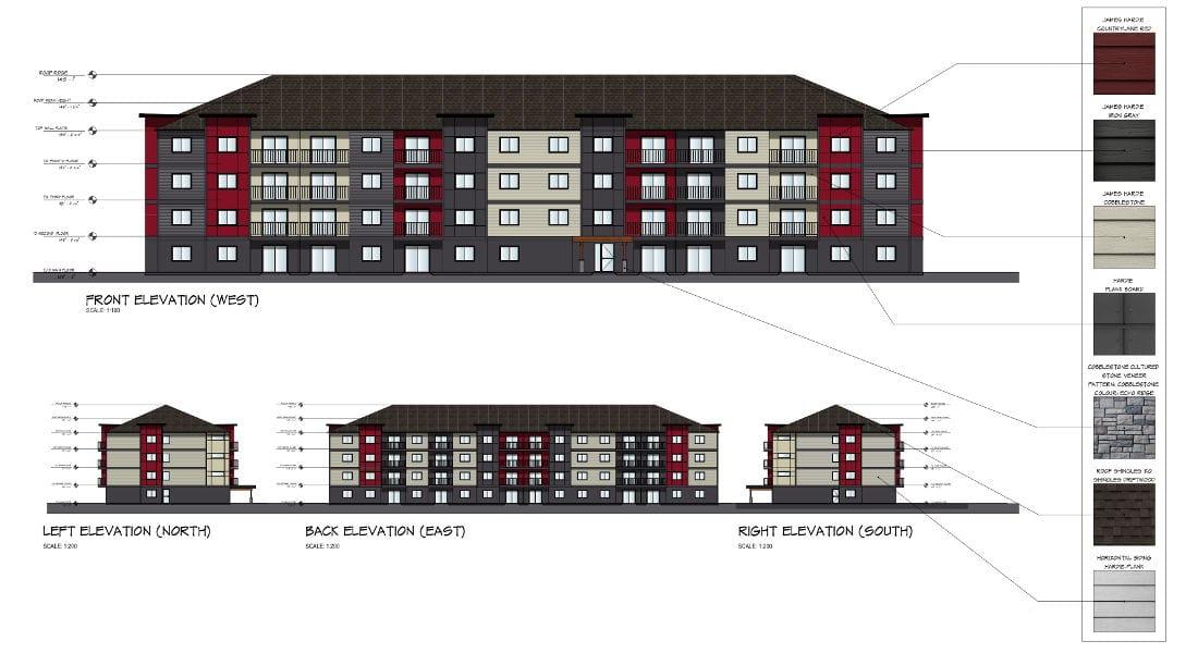 Courtenay BC Apartment elevation plans