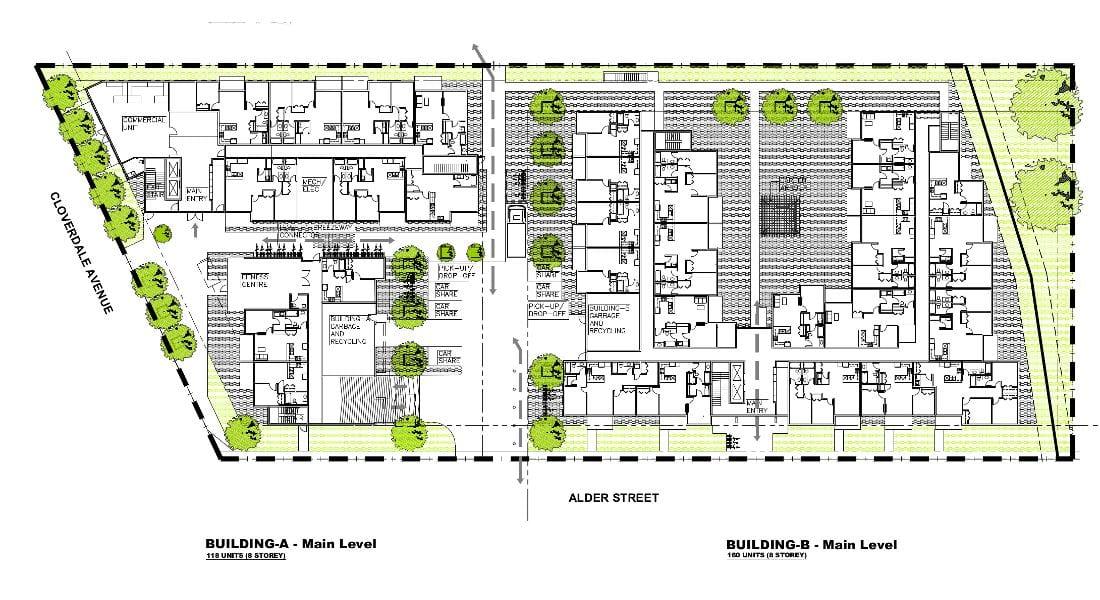 Rutledge Place Apartments - Victoria BC, Site Plan