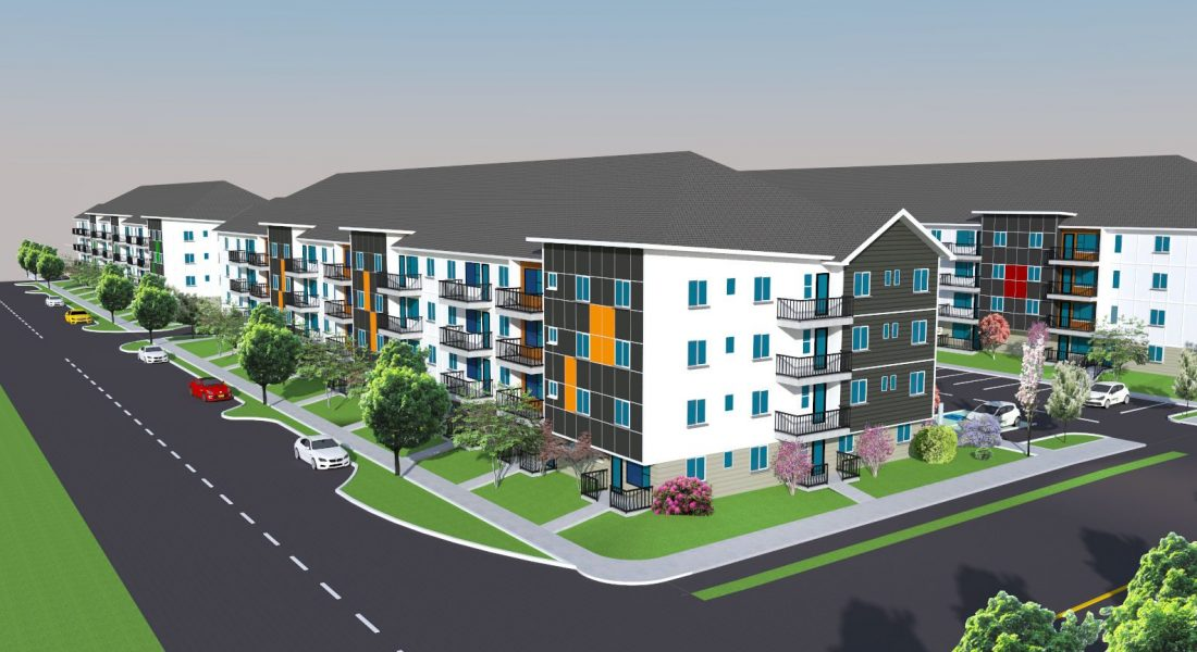 Drinkwater Apartments - Rendering
